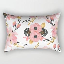 Night Meadow on White Rectangular Pillow