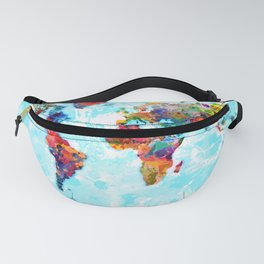 World Map - 2 Fanny Pack