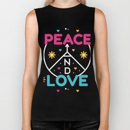 Peace And Love Biker Tank