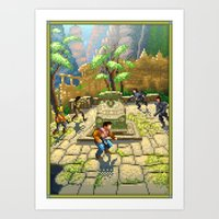 Pixel Art series 7 : Shamballa Art Print