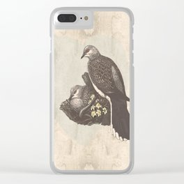 Turtle doves embrace Clear iPhone Case
