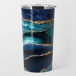 Ocean Blue Mermaid Marble Travel Mug
