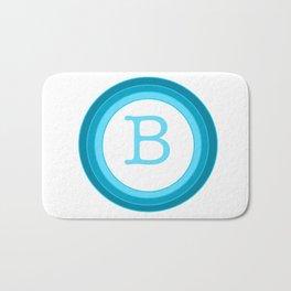 Blue letter B Bath Mat