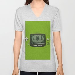 Gameboy Zelda Link Unisex V-Neck