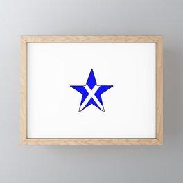 flag of scotland 8– scotland,scot,scottish,Glasgow,Edinburgh,Aberdeen,dundee,uk,cletic,celts,Gaelic Framed Mini Art Print