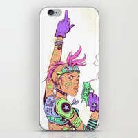 tank girl iPhone & iPod Skins featuring Tank Girl by MATT DEMINO