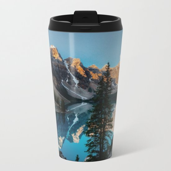 Moraine Lake Canada Metal Travel Mug