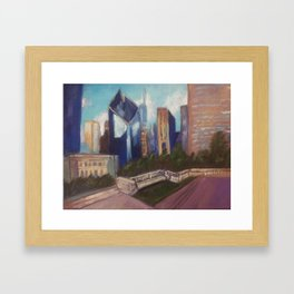 Chicago Diamond Framed Art Print