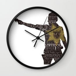 Rick Grimes with Quotes Wall Clock