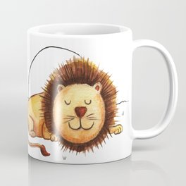 Just Lion the ground Coffee Mug