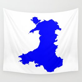 Silhouette Map Of Wales Wall Tapestry