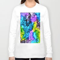 mermaids Long Sleeve T-shirts featuring Mermaids by Claire Day