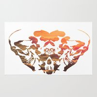 rorschach Area & Throw Rugs featuring Rorschach II by yayanastasia