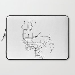 New York City White Subway Map Laptop Sleeve