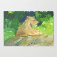 kiki Canvas Prints featuring Kiki by Paintmonkey Studios