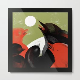 Arguing with the Moon Metal Print
