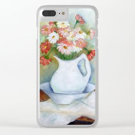 Vaso com flores I (Vase with flowers I) Clear iPhone Case