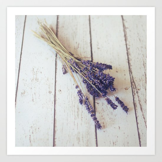 lavender bunch Art Print