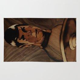 Original Leonard Nimoy (mr. Spock) on enterprise series of wood by Andulino Rug