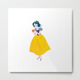 Once upon a time Snow White Metal Print
