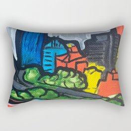Brisbane City Painting Series Rectangular Pillow
