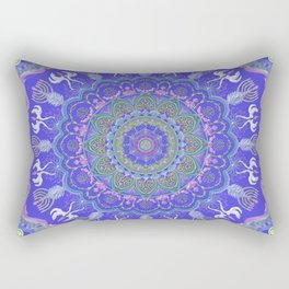 Chanukkah angel and candelar mandala-judaica-jewish holidays-joy-gift-wall hanging-energy Rectangular Pillow