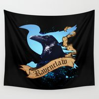 ravenclaw Wall Tapestries featuring Ravenclaw by Markusian