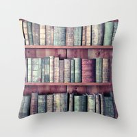 books Throw Pillows featuring books by Claudia Drossert