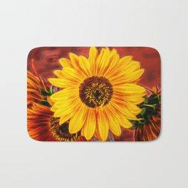 Sunny Sunflower Bath Mat
