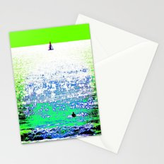 Sailboat and Swimmer (2b) Stationery Cards