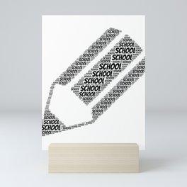 School Word Cloud Mini Art Print