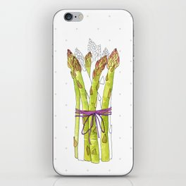 asparagus and mushrooms iPhone Skin