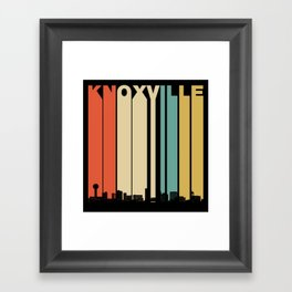 Vintage 1970's Style Knoxville Tennessee Skyline Framed Art Print