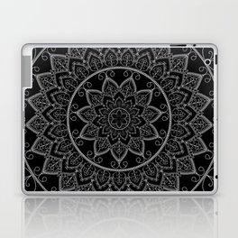 Black and White Lace Mandala Laptop & iPad Skin