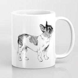 French Bulldog Ink Drawing Coffee Mug