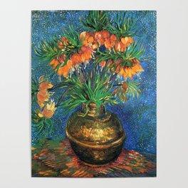 Vincent Van Gogh Frittilaries in Copper Vase 1887 Poster