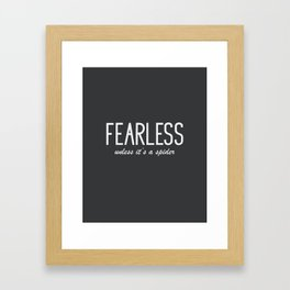 Humor Quote 'Fearless' Framed Art Print