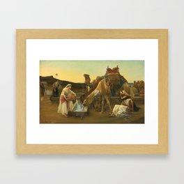 Alexandre Cabanel - Rebecca and Eliezer 1883,,, Framed Art Print