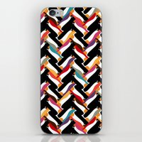herringbone iPhone & iPod Skins featuring herringbone penguin by Sharon Turner