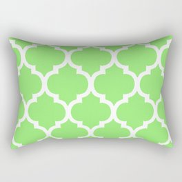 MOROCCAN LIME GREEN AND WHITE PATTERN Rectangular Pillow