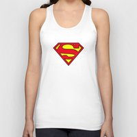 daenerys Tank Tops featuring Superman Blood Logo by Veylow