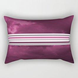 Intermittent sunset in purple Rectangular Pillow