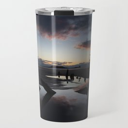 Sunset over the Helvetia at Rhossili Bay Travel Mug