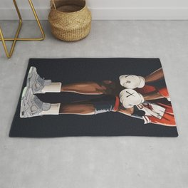KAWS boxing gloves and shoes Rug