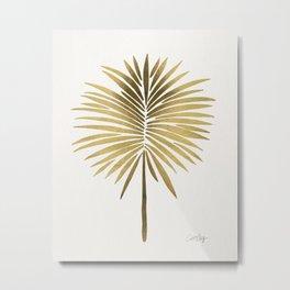 Tropical Fan Palm – Gold Palette Metal Print