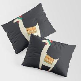 Christmas llama Hat Pillow Sham