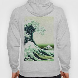 The Great Wave Green Hoody