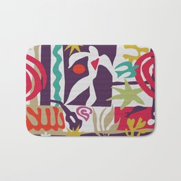 Inspired to Matisse (violet) Bath Mat