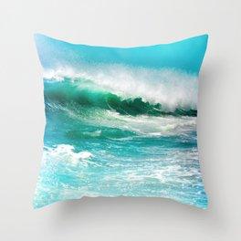 Ocean Wave Rip Curl Throw Pillow
