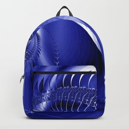 blue and white spiral -100- Backpack